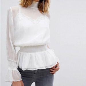 AllSaints crepe blouse